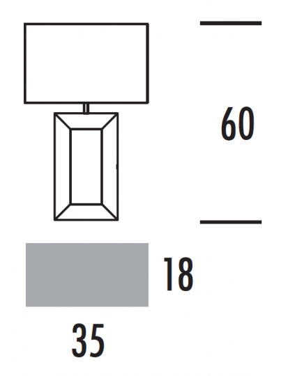 EVA D-V LG Lampa Gabinetowa wymiary