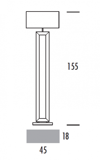 EVA LP Lampa Podłogowa wymiary