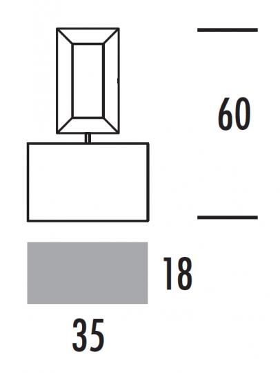 EVA LS-S Lampa Sufitowa wymiary