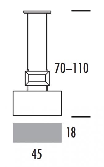 EVA LS2 Lampa Sufitowa wymiary