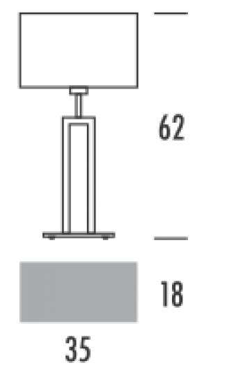 ALASKA LG Lampa Gabinetowa wymiary