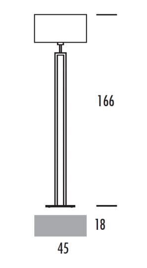 ALASKA LP Lampa Podłogowa wymiary