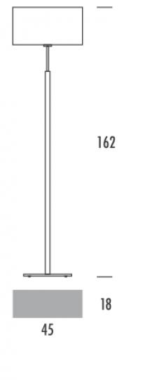 LUPUS LP Lampa Podłogowa wymiary