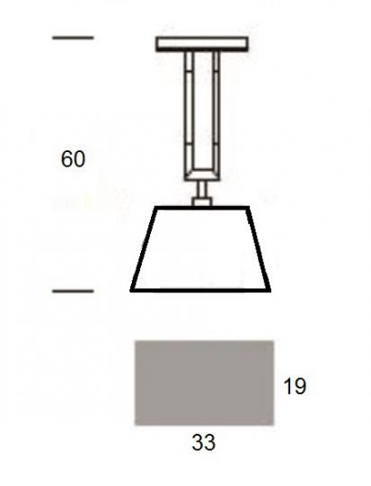 EMMA LS1 Lampa Sufitowa wymiary