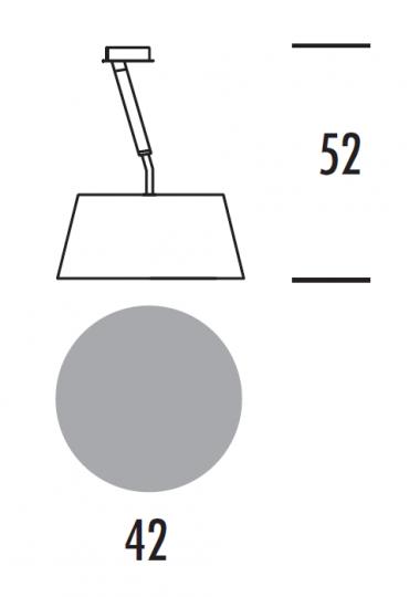 VELA LS Lampa Sufitowa wymiary