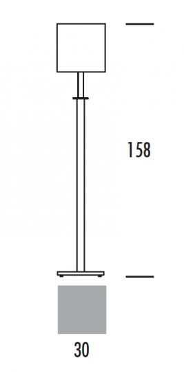 VES LP Lampa Podłogowa wymiary