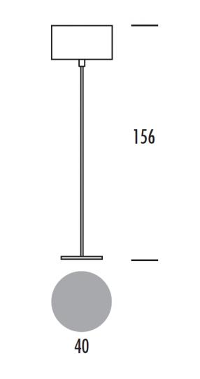 PRECIOSA LP Lampa Podłogowa wymiary