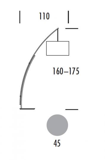 TWIN LP-R Lampa Podłogowa wymiary