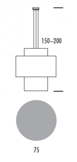 ANDRA LS-D Lampa Sufitowa wymiary