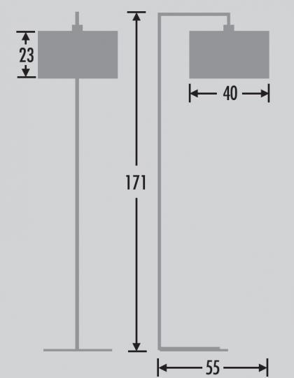 NINA LP Lampa Podłogowa wymiary