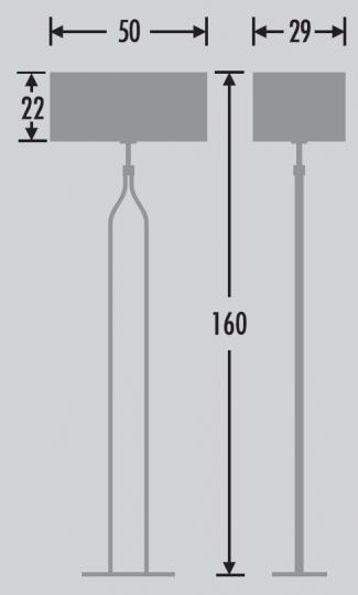 BRANDY LP Lampa Podłogowa wymiary