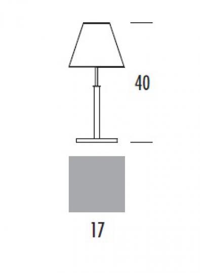HAMIDA LN Lampa Nocna wymiary