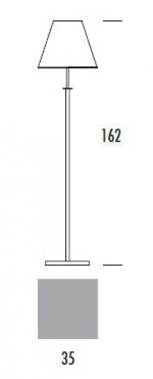 HAMIDA LP Lampa Podłogowa wymiary