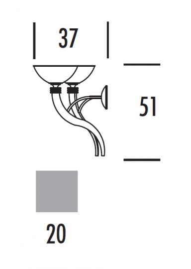 FUJI Ż5 Żyrandol wymiary