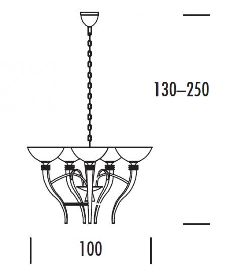 FUJI Ż6 Żyrandol wymiary