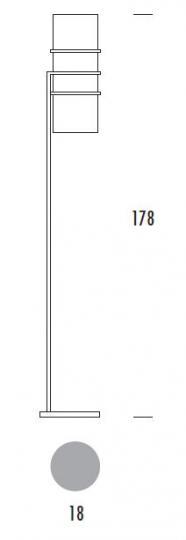 EDGAR BIS LP Lampa Podłogowa wymiary