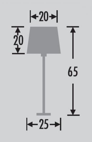 HAVANA LG Lampa Gabinetowa wymiary