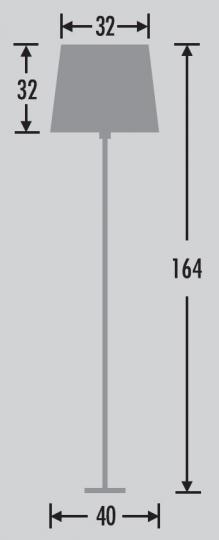HAVANA LP Lampa Podłogowa wymiary