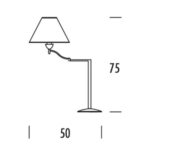 TANGO LG-R Lampa Gabinetowa regulowana wymiary