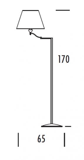 TANGO LP-R Lampa Podłogowa regulowana wymiary
