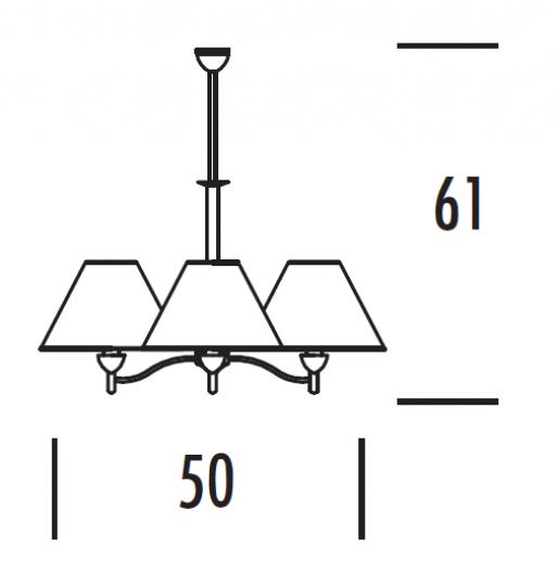 TANGO Ż3 Żyrandol wymiary
