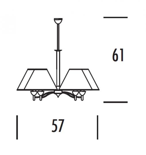 TANGO Ż5 Żyrandol wymiary