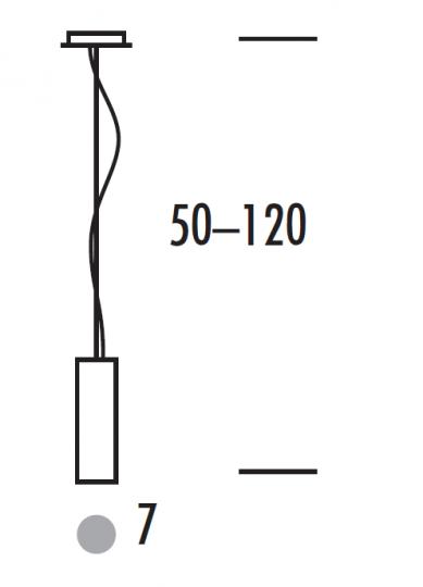 PAR LUX LS-R Lampa Sufitowa wymiary