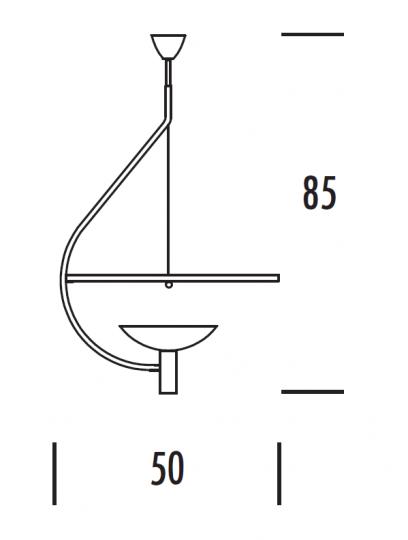 GALAXY LS LED Lampa Sufitowa wymiary