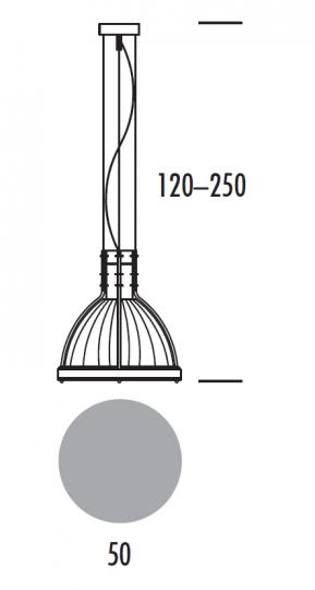 BETA LS-D Lampa Sufitowa wymiary