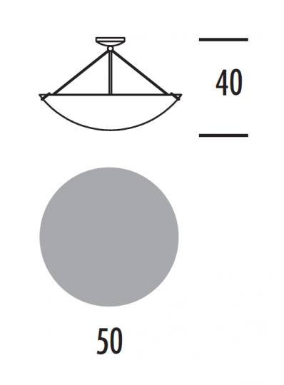 PRISMA BIS LS Lampa Sufitowa wymiary
