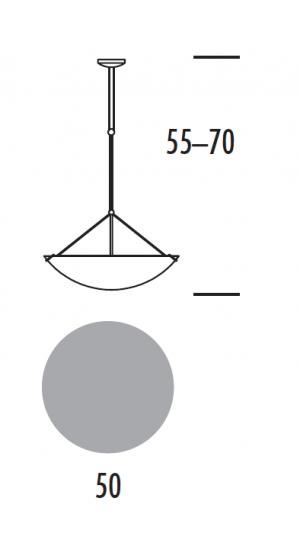 PRISMA LS-R Lampa Sufitowa regulowana wymiary