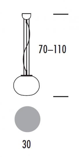 PUFA LS1 Lampa Sufitowa wymiary