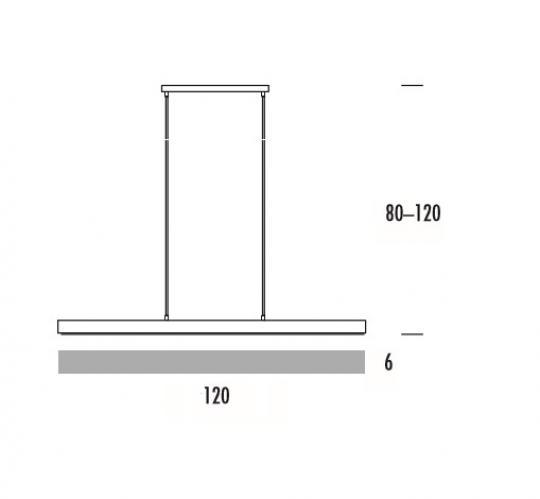 HORUS LS 120 Lampa Sufitowa wymiary