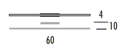 KRESKA K LED Kinkiet 60 wymiary