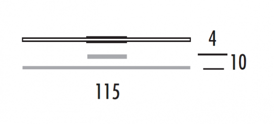 KRESKA K LED Kinkiet 115 wymiary
