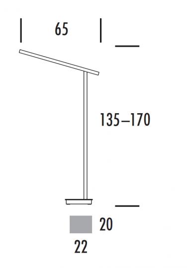 KRESKA LP LED Lampa Podłogowa wymiana