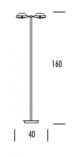 TAIPEI LP2 Lampa Podłogowa wymiary