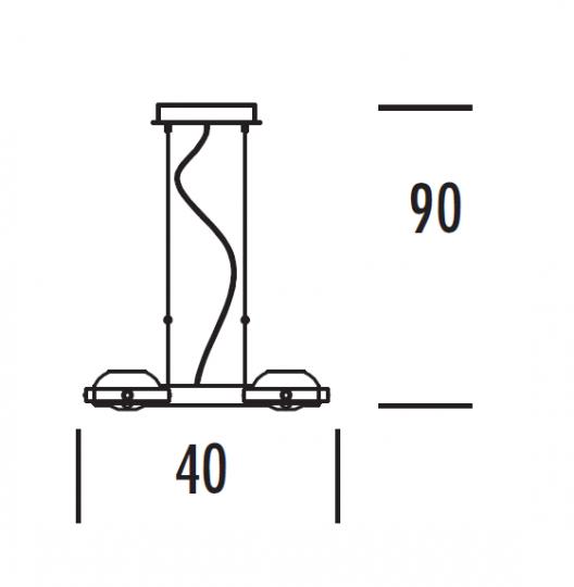 TAIPEI LS4 Lampa Sufitowa wymiary