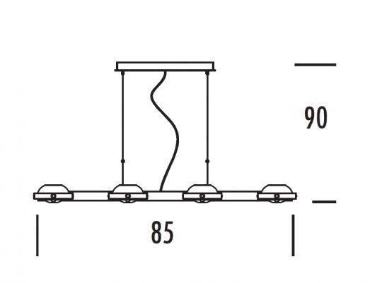 TAIPEI LS8 Lampa Sufitowa wymiary