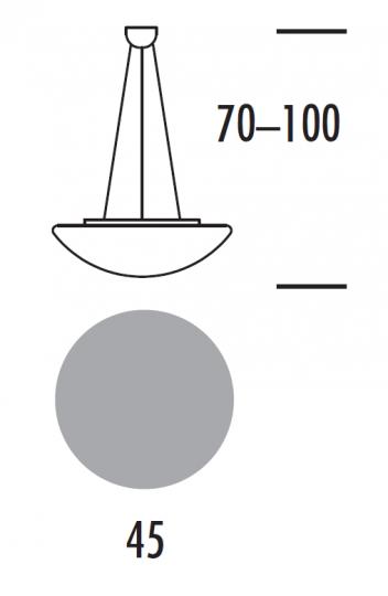 TWIST LS Lampa Sufitowa 45 cm wymiary