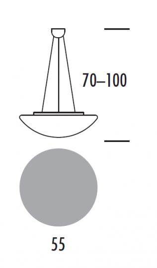 TWIST LS Lampa Sufitowa 55 cm wymiary