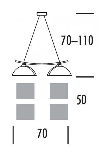 FORUMbis Ż4 Żyrandol wymiary