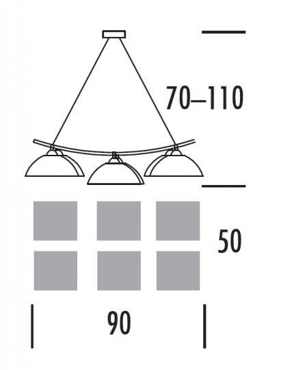 FORUMbis Ż6 Żyrandol wymiary