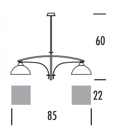 TORONTO Ż2 Żyrandol wymiary