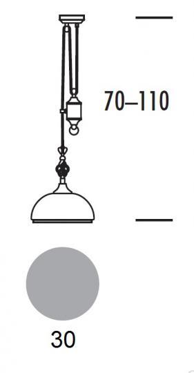BOLOGNA LS-R Lampa Sufitowa regulowana wymiary