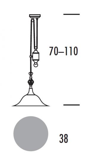 TOMI LS-R Lampa Sufitowa regulowana wymiary