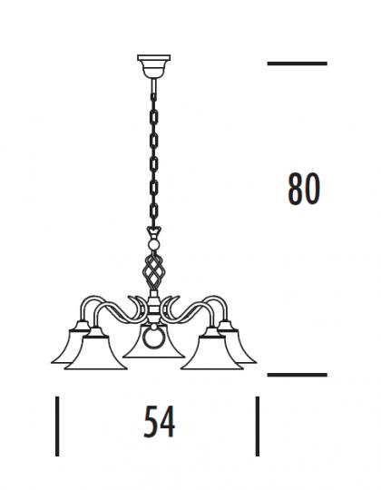 TOMI Ż5 Żyrandol wymiary