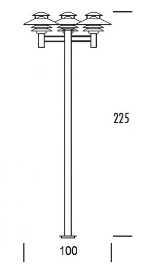 SCANIA LO 2/3 2,25m Lampa Ogrodowa wymiary