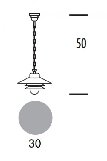SCANIA LS Lampa Sufitowa wymiary