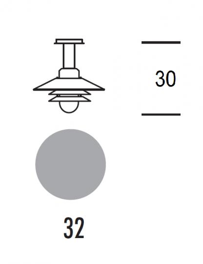 SCANIA LS-S Lampa Sufitowa stała wymiary